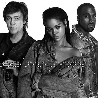 Rihanna: escucha FourFiveSeconds con Paul McCartney y Kanye West